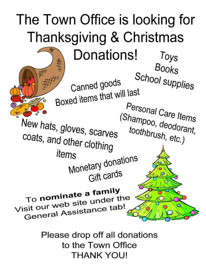 Seasonal Holiday Basket & Gift Program - Town of Minot, Maine